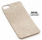 SKIN COVER VERA PELLE FINITURA GALUCHAT (RAZZA) PER IPHONE 5-5S